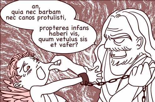 ラテン語漫画ルキアノス2:キューピッドとゼウス・アイキャッチ