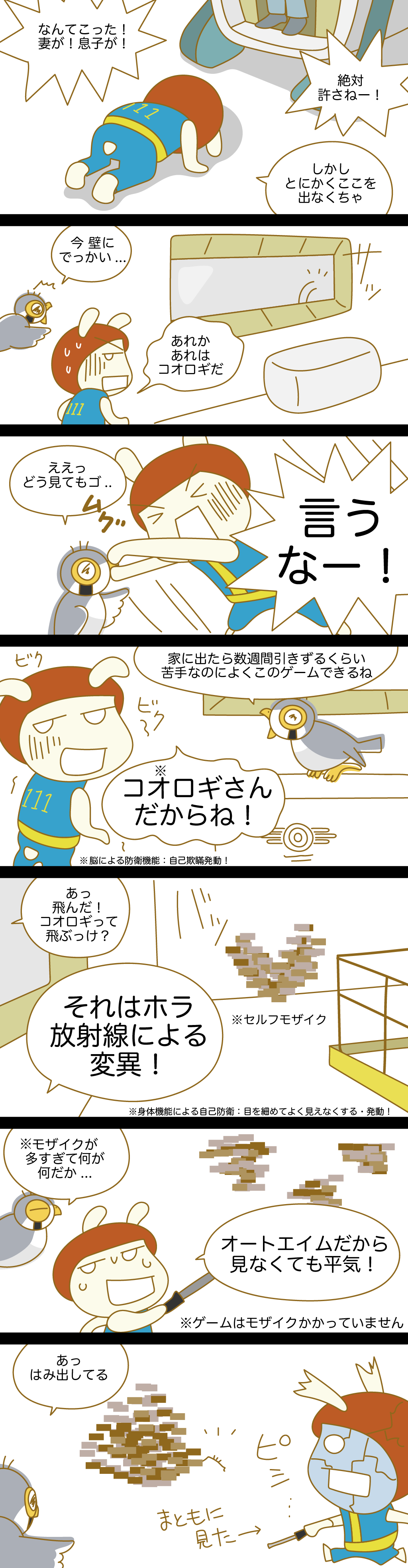 Fallout漫画日記4・壁にアレが...[虫注意]